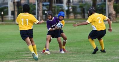 ภาพกิจกรรม : การแข่งขันกีฬามินิรักบี้ เด็กเล็ก