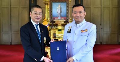 ภาพกิจกรรม : พิธีรับพระบรมราชานุมัติแต่งตั้งผู้บังคับการเกียรติคุณ ชาติประเสริฐ